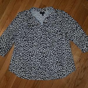 Lane Bryant leopard top